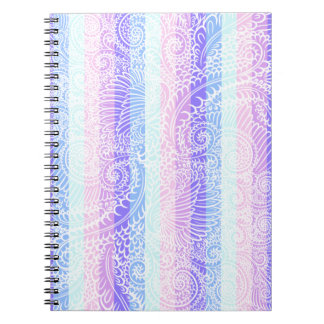 Stripes of pastel harmony notebook