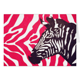 stripes on stripes greeting card