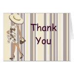 Stripes & Paisley Thank You Notecard (AA)