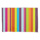 Stripes (Parallel Lines) - Blue Green Red Orange Pillowcase