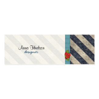 Stripes (Parallel Lines) - Gray Blue Business Card