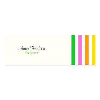 Stripes (Parallel Lines) - Red Blue Green Pink Business Card