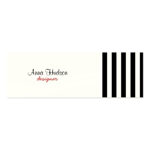 Stripes (Parallel Lines) - White Black Business Card Template