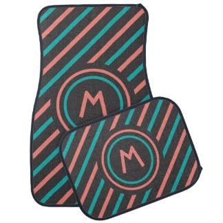 Stripes Pattern custom monogram car floor mats Car Mat