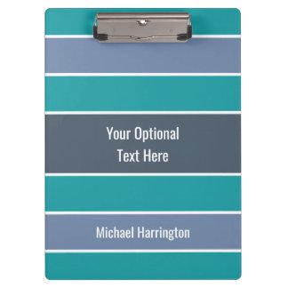 Stripes Pattern custom name clipboard