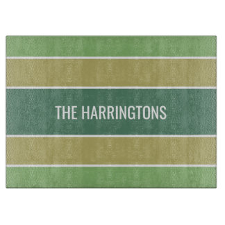 Stripes Pattern custom name cutting boards