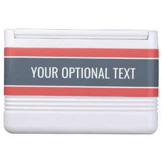 Stripes Pattern custom text coolers