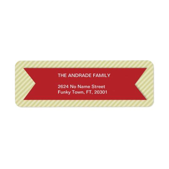 Stripes Pattern Family Return Address Labels