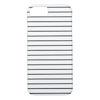 Stripes Pattern Minimal Black and White iPhone 7 Case