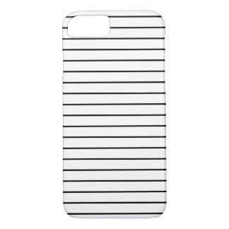 Stripes Pattern Minimal Black and White iPhone 8/7 Case