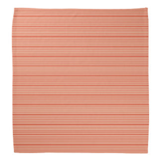 Stripes pattern two tone red cream head kerchief
