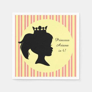 Stripes Princess Custom Birthday Paper Napkin