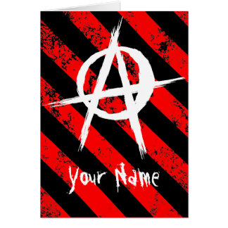 Stripes Punk/Anarchist cracked symbol Card