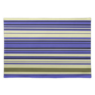 Stripes - Purple Blue Yellow Green Placemat