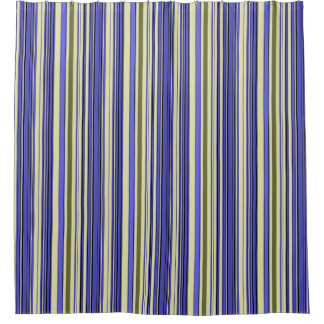 Stripes - Purple Blue Yellow Green Shower Curtain