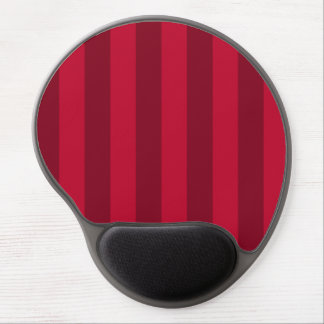 Stripes - Red and Dark Red Gel Mouse Pad