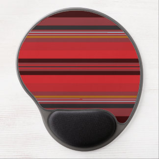 Stripes - Red Horizon Gel Mouse Pad