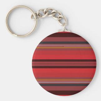 Stripes - Red Horizon Key Ring