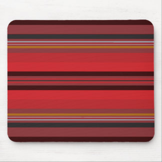 Stripes - Red Horizon Mouse Pad