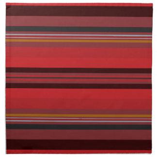 Stripes - Red Horizon Napkin