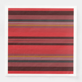 Stripes - Red Horizon Paper Napkin