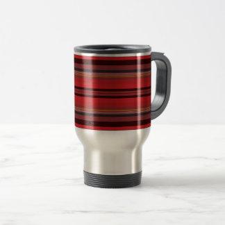 Stripes - Red Horizon Travel Mug