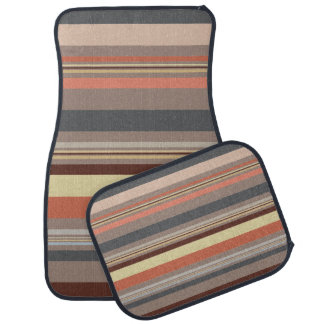 Stripes - Retro Tones Car Mat