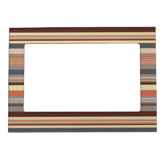 Stripes - Retro Tones Magnetic Picture Frame
