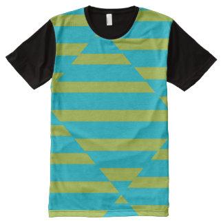 Stripes Shirt All-Over Print T-Shirt
