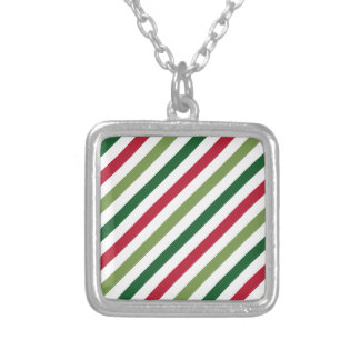 Stripes Silver Plated Necklace