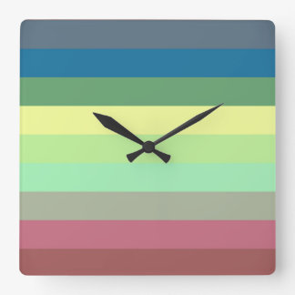 Stripes Square Wall Clock