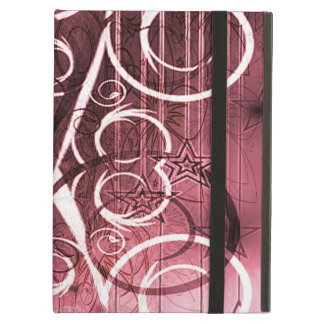 Stripes, Stars, Flowers and Swirls on Plum Case For iPad Air