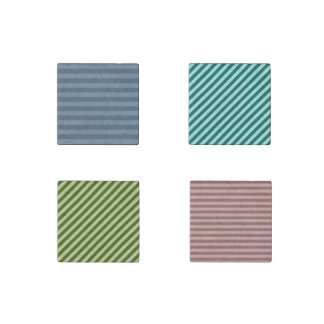 Stripes Stone Magnet