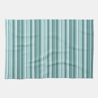 Stripes - Teal Green Blue Tea Towel