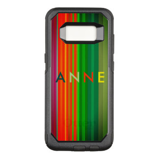 Stripes Vertical Colorful Bright Personalized OtterBox Commuter Samsung Galaxy S8 Case