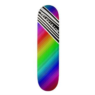 Stripes Vertical Hold Rainbow TV Color Bars Skate Board
