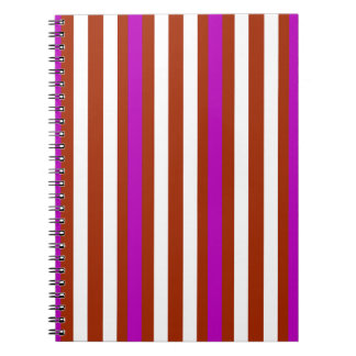 Stripes Vertical Purple Red White Notebook
