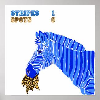 Stripes vs. Spots Poster