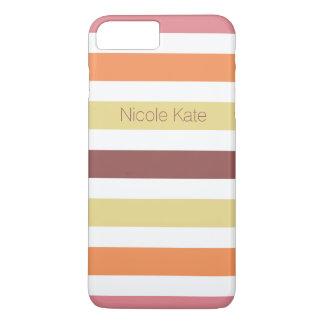 stripes warm colors marsala iPhone 7 plus case
