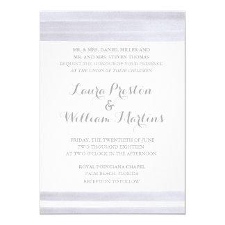 Stripes Watercolor Wedding Invitation