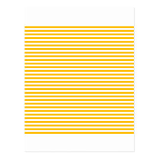Stripes - White and Amber Postcard