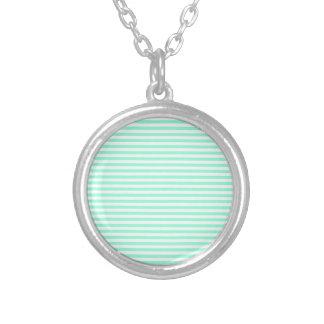 Stripes - White and Aquamarine Necklace