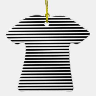 Stripes - White and Black Ornaments