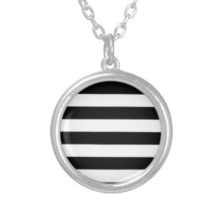 Stripes - White and Black Necklace