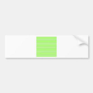 Stripes - White and Bright Green Car Bumper Sticker