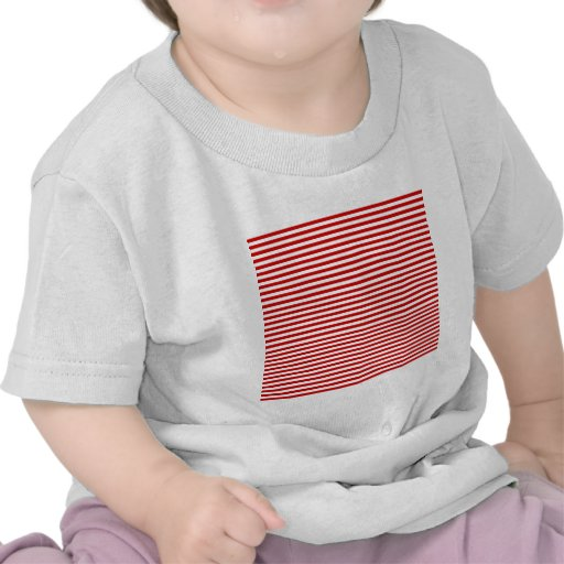 Stripes - White and BU Red Shirts