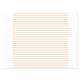 Stripes - White and Champagne Postcard