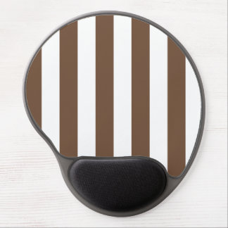 Stripes - White and Coffee Gel Mousepads
