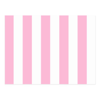 Stripes - White and Cotton Candy Postcard