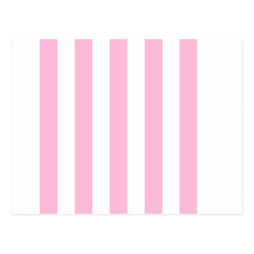 Stripes - White and Cotton Candy Post Cards